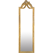 19th C. French Louis XVI Style Beveled Mirror