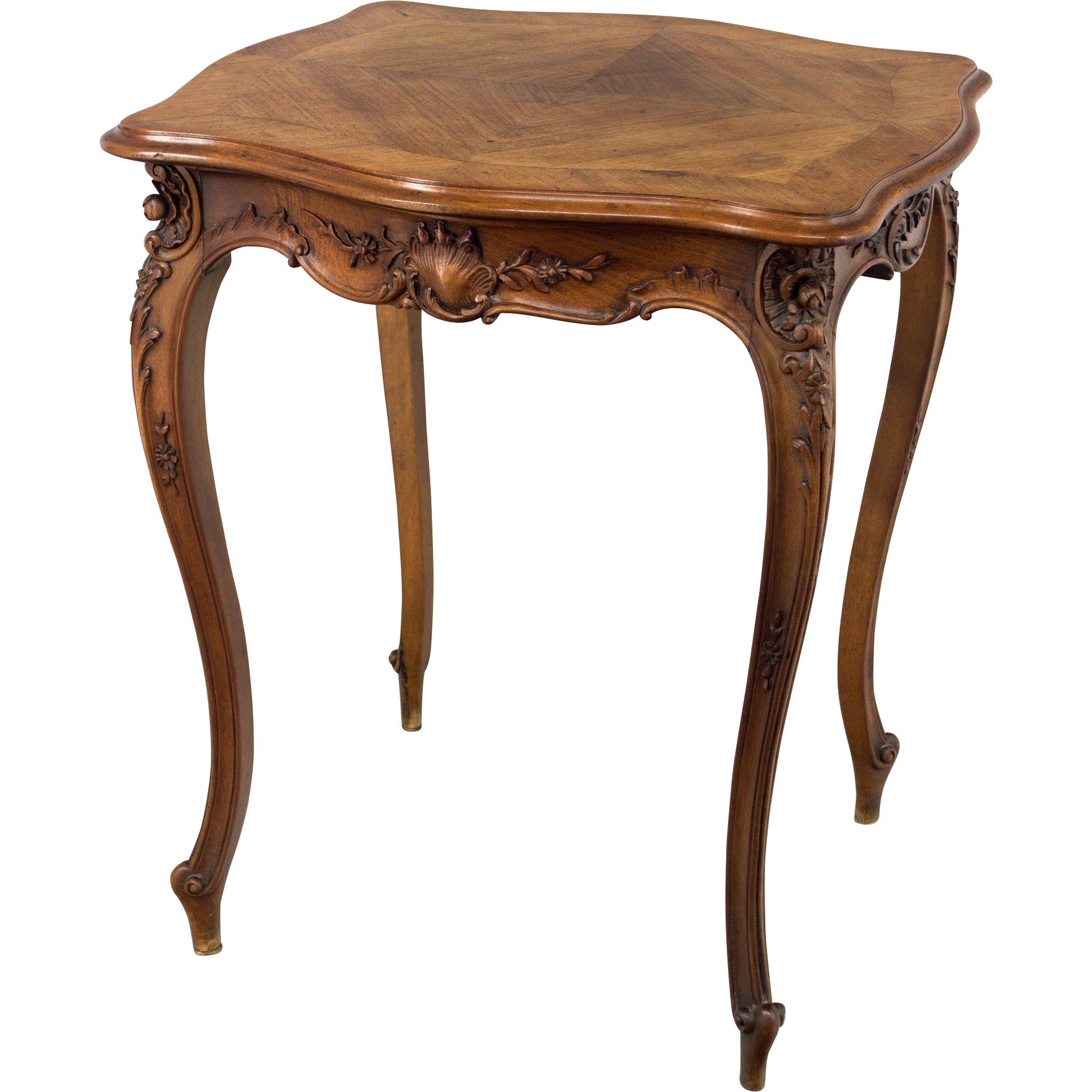 louis xv style side table sold on ruby lane. Black Bedroom Furniture Sets. Home Design Ideas