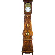 19th c. French Country Comtoise or Grandfather Clock