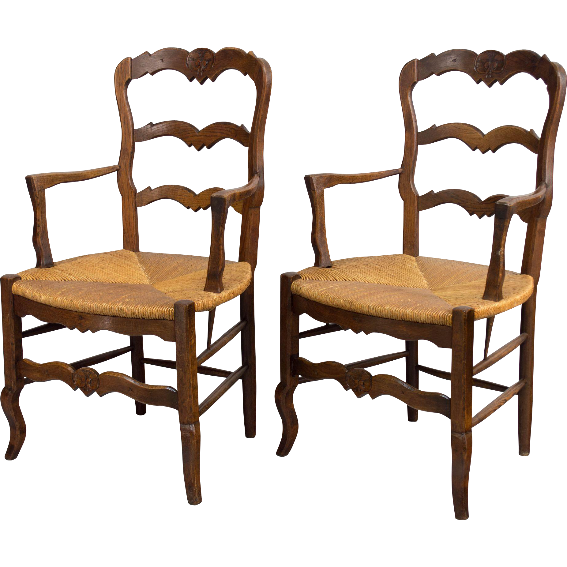 Pair of Country French Chairs