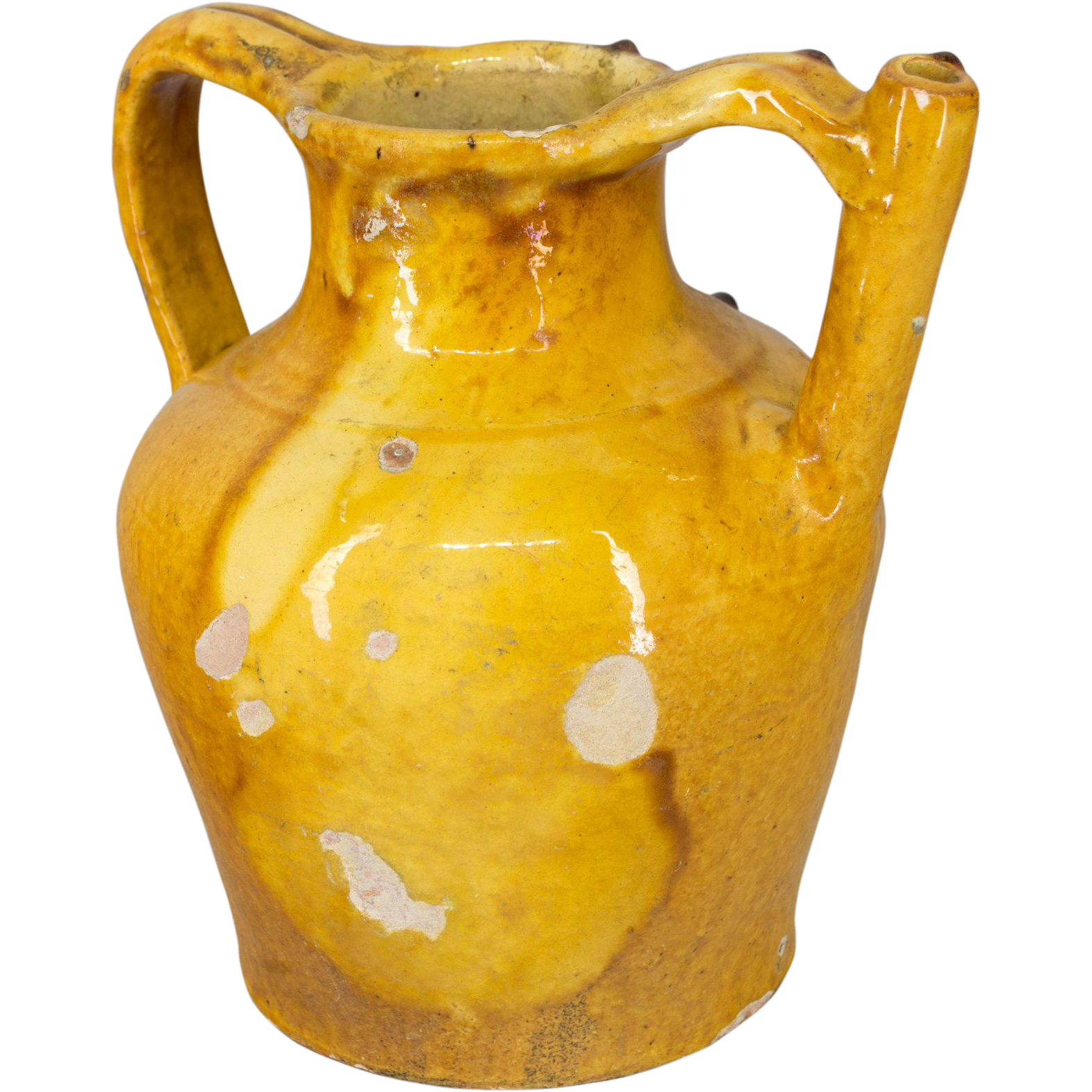 French Glazed Terra Cotta Jug