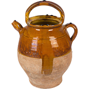 French Terracotta Vinaigrier, or Vinegar Pot