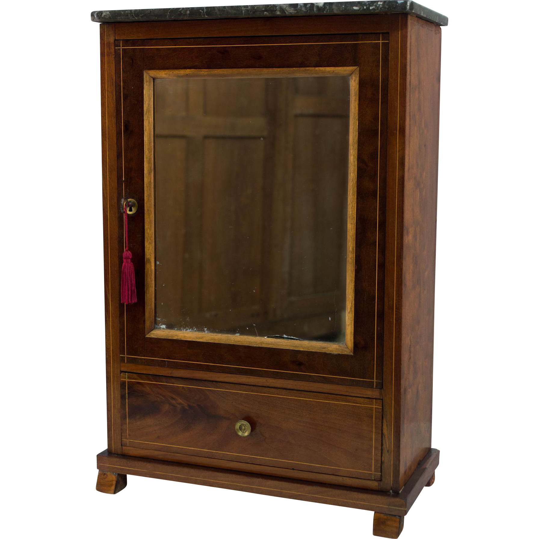 french louis philippe style miniature armoire from ofleury. Black Bedroom Furniture Sets. Home Design Ideas