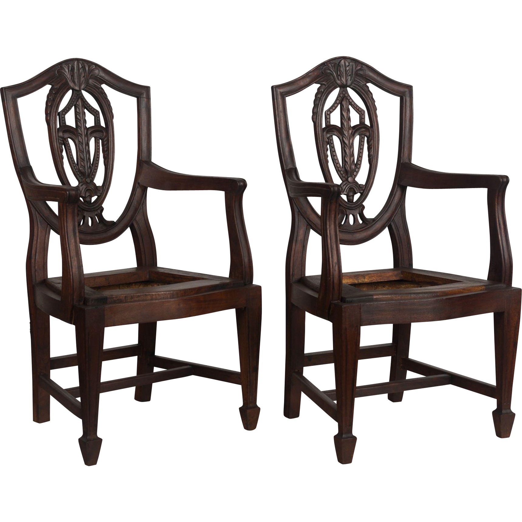 Pair of Miniature French Armchairs