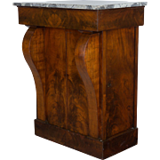 19th c. French Empire Marble Top Cabinet
