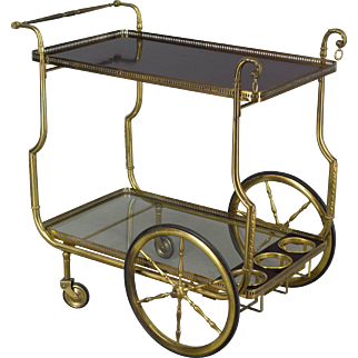 French Brass Bar Cart