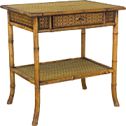 French Bamboo Side Table