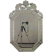 19th Century Venetian Glass Mirror