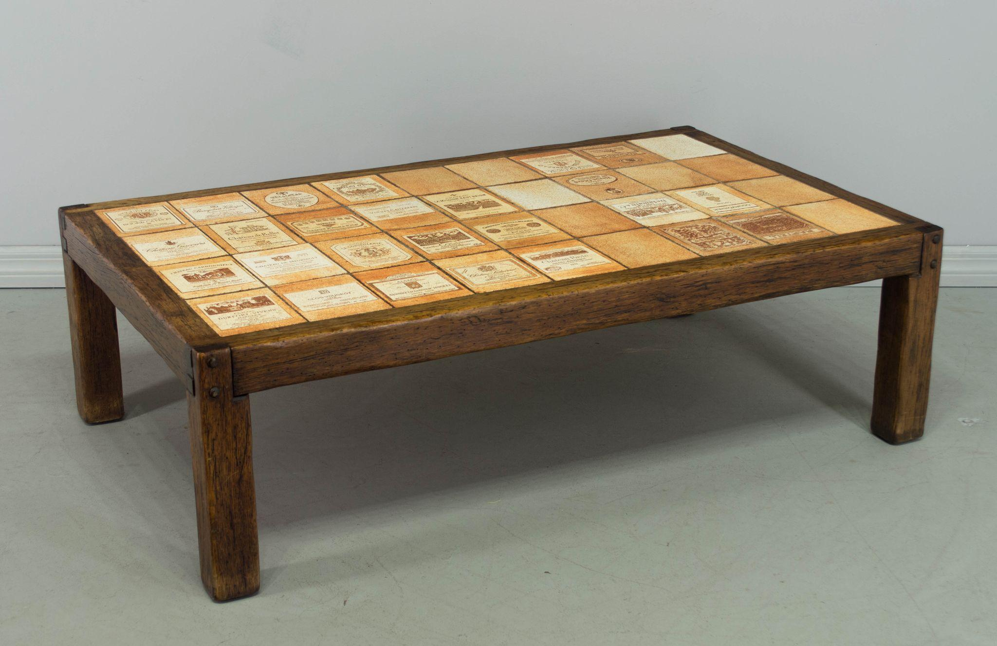 Roger Capron Wine Label Coffee Table from ofleury on Ruby Lane