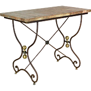 French Marble Top Pastry Table