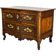 18th c. Louis XV Serpentine Commode