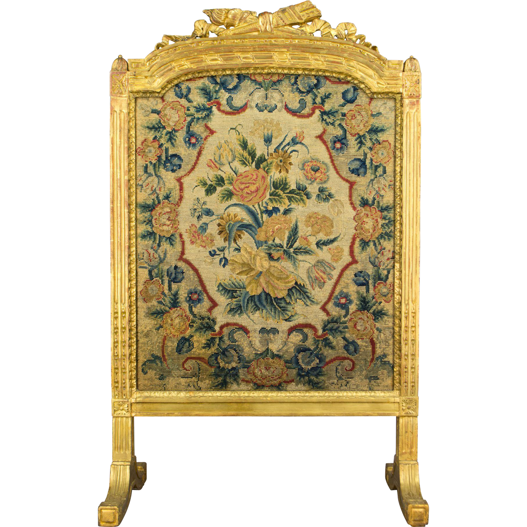 19th Century Louis XVI Style Fire Screen