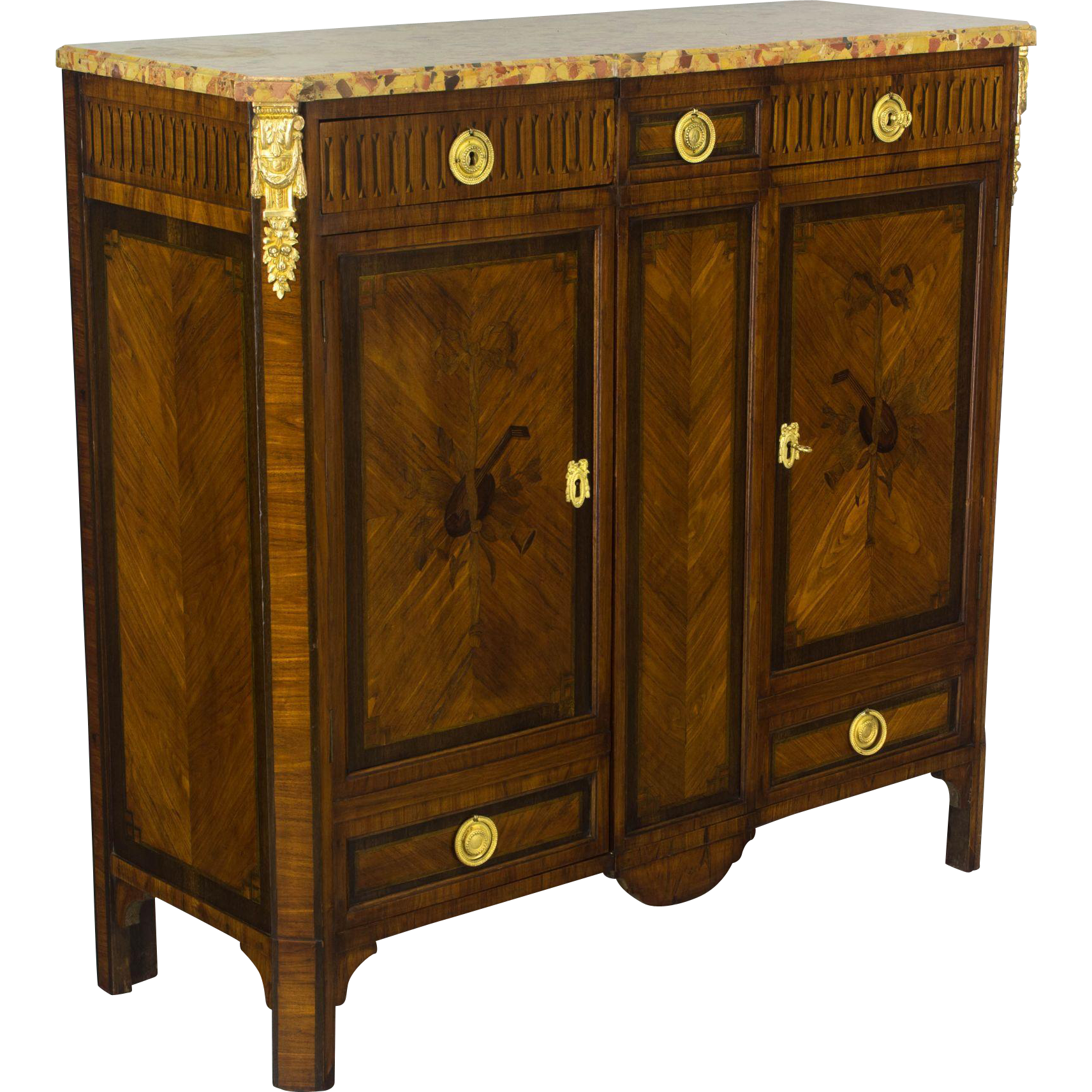 19th c. Louis XVI Style Marquetry Buffet