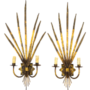 Pair of Spanish Gilt Metal Sconces