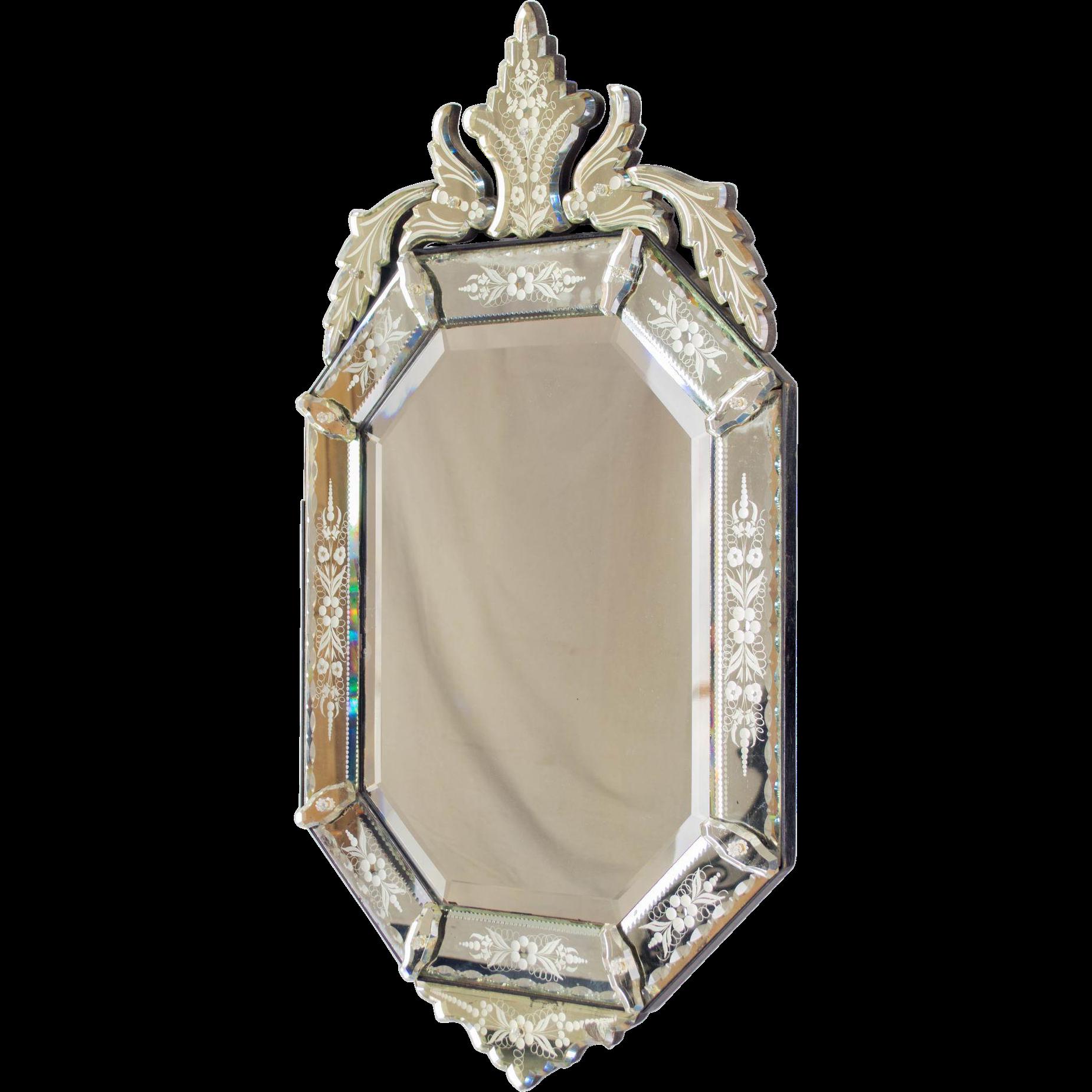 19th c. Napoleon III Venetian Mirror