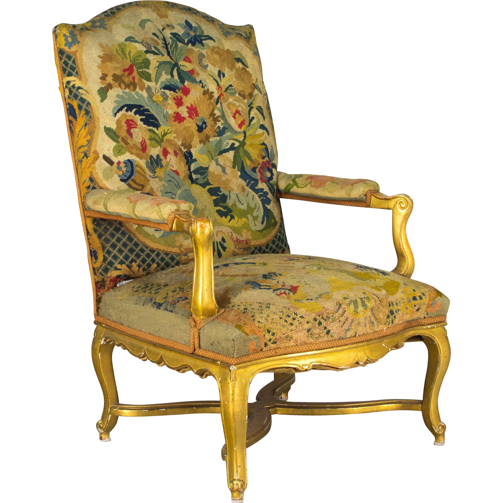 19th c. Gilded Fauteuil or Armchair