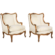 Pair of Louis XVI Style French Arm Chairs