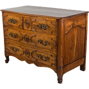 19th c. Louis XV Style Serpentine Front Commode