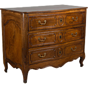 18th c. French Louis XV Walnut Commode