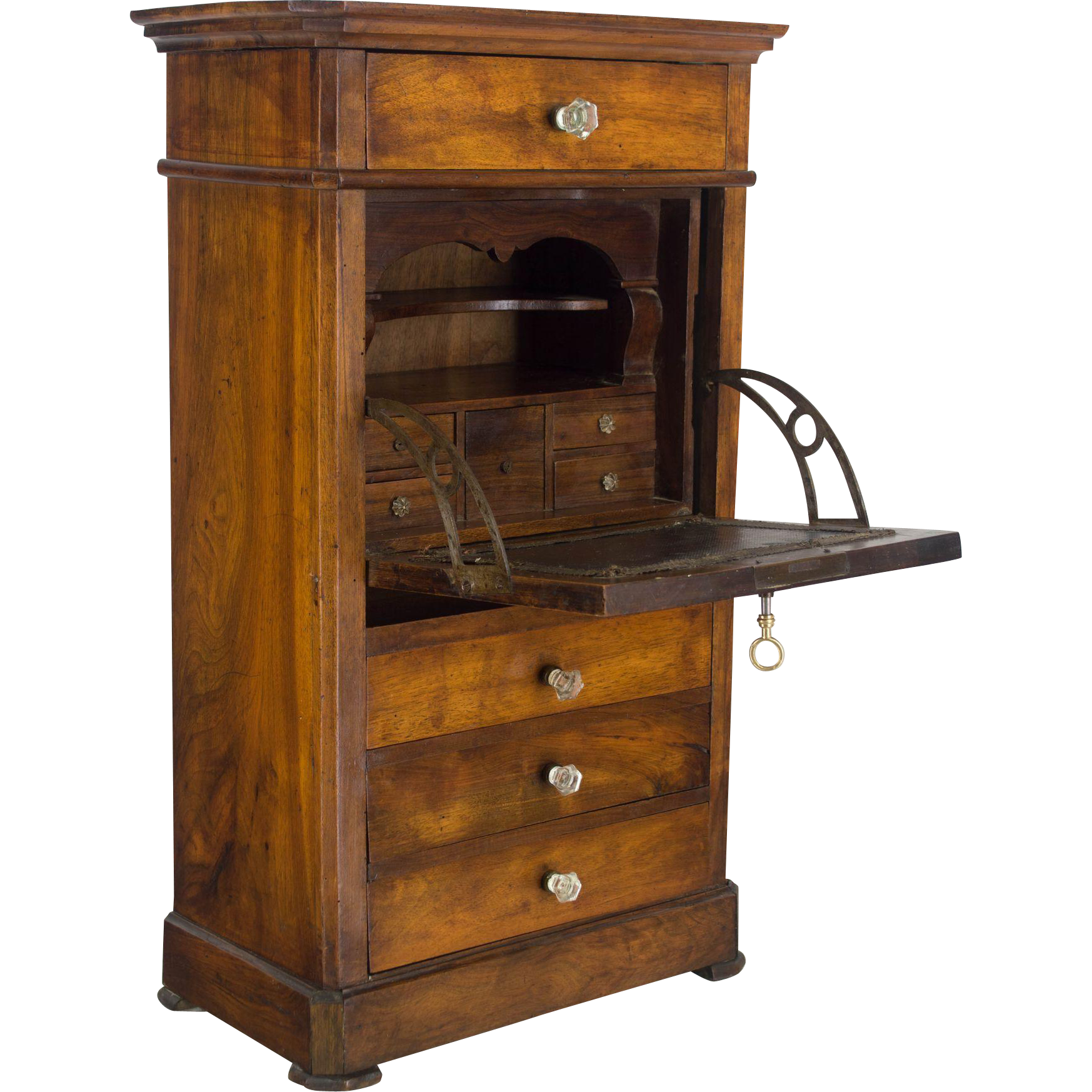 19th century louis philippe miniature secretaire from ofleury on ruby