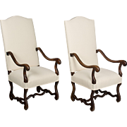Pair of 19th c. Louis XIII Style Armchairs