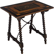 19th c. Spanish Baroque Style Side Table
