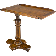 19th c. French Walnut Adjustable Table