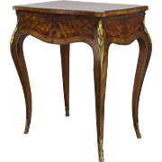 19th c. Louis XV Style Marquetry Table