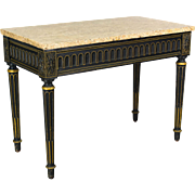 19th Century Louis XVI Style Ebonized Console