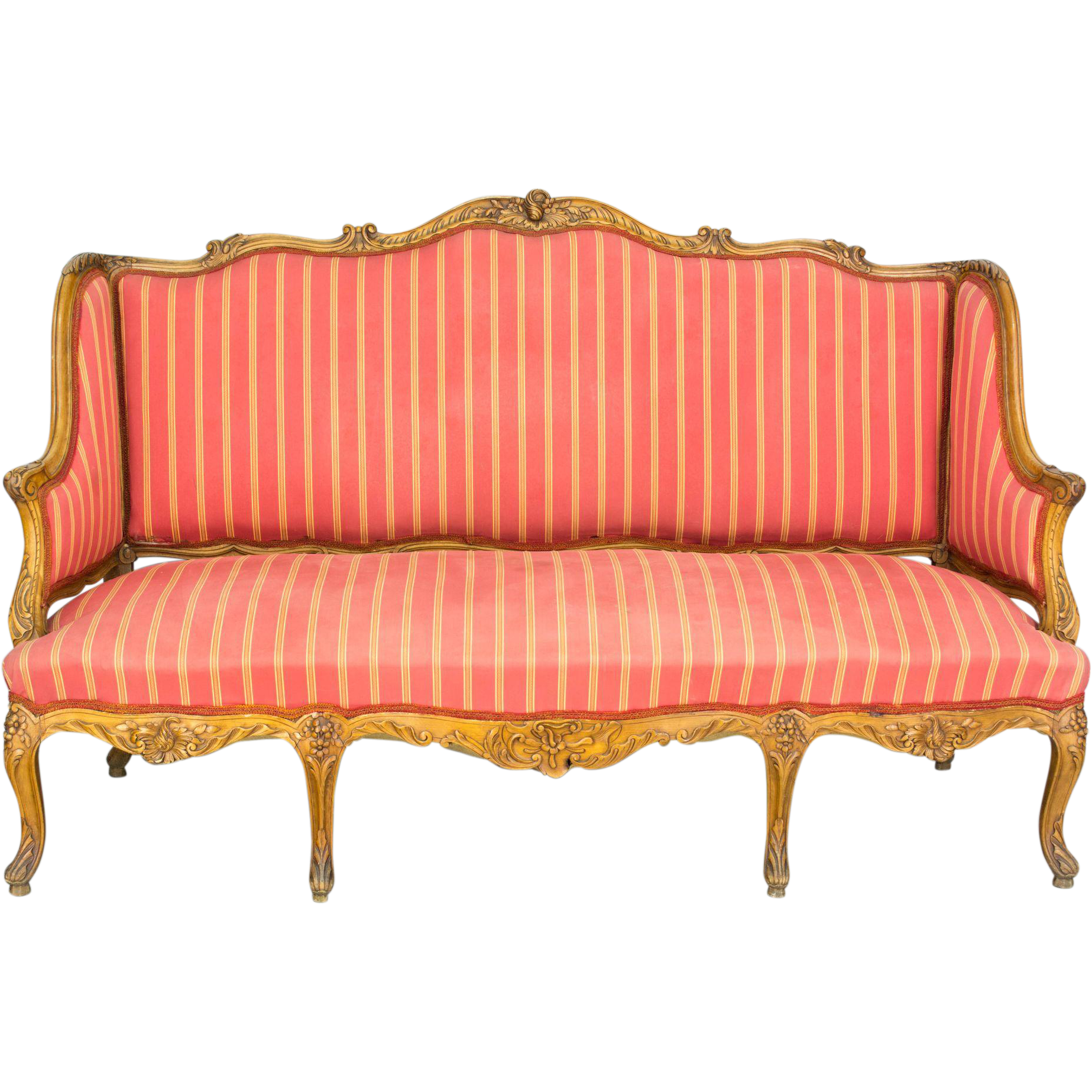 19th century louis xv style sofa or canape from ofleury on for Louis xv canape sofa