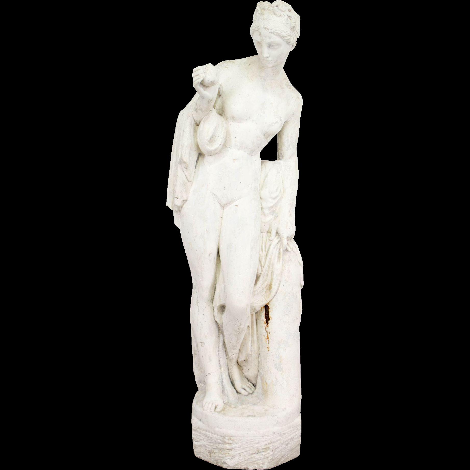 French Stone Garden Statue