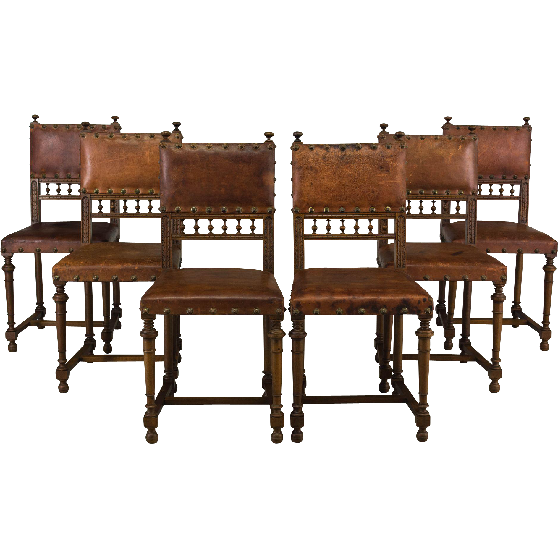 Set of Six 19th c. French Dining Chairs