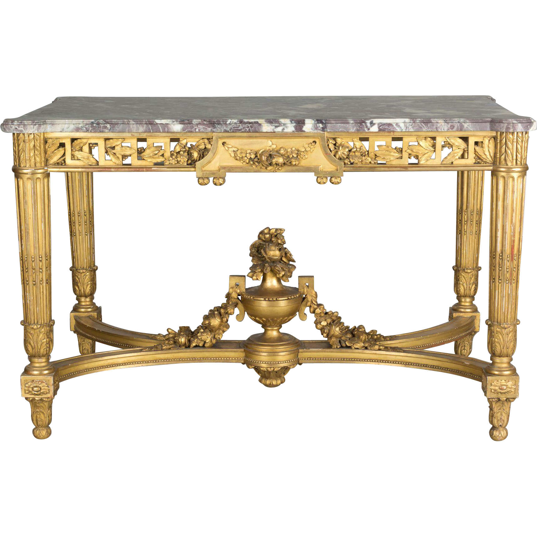 19th century louis xvi style center table from ofleury on for Table th center