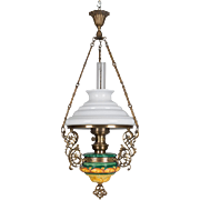 19th c. French Hanging Oil Lamp