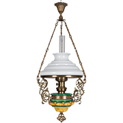 19th Century French Hanging Oil Lamp  $700