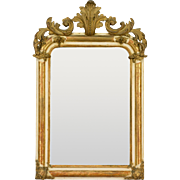French Louis XV Style Painted and Gilded Mirror