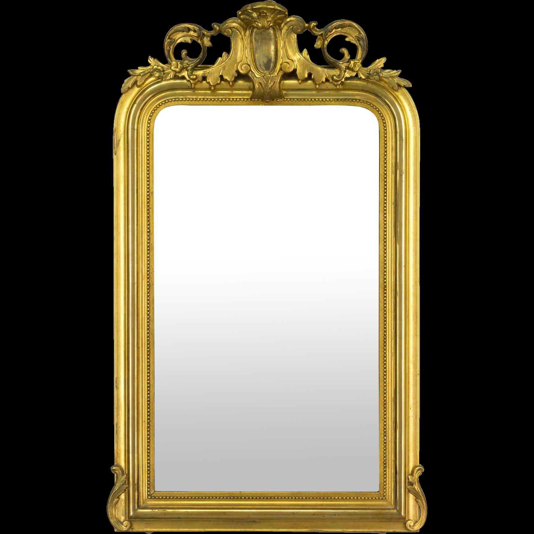 Louis XV Style Gilded Mirror