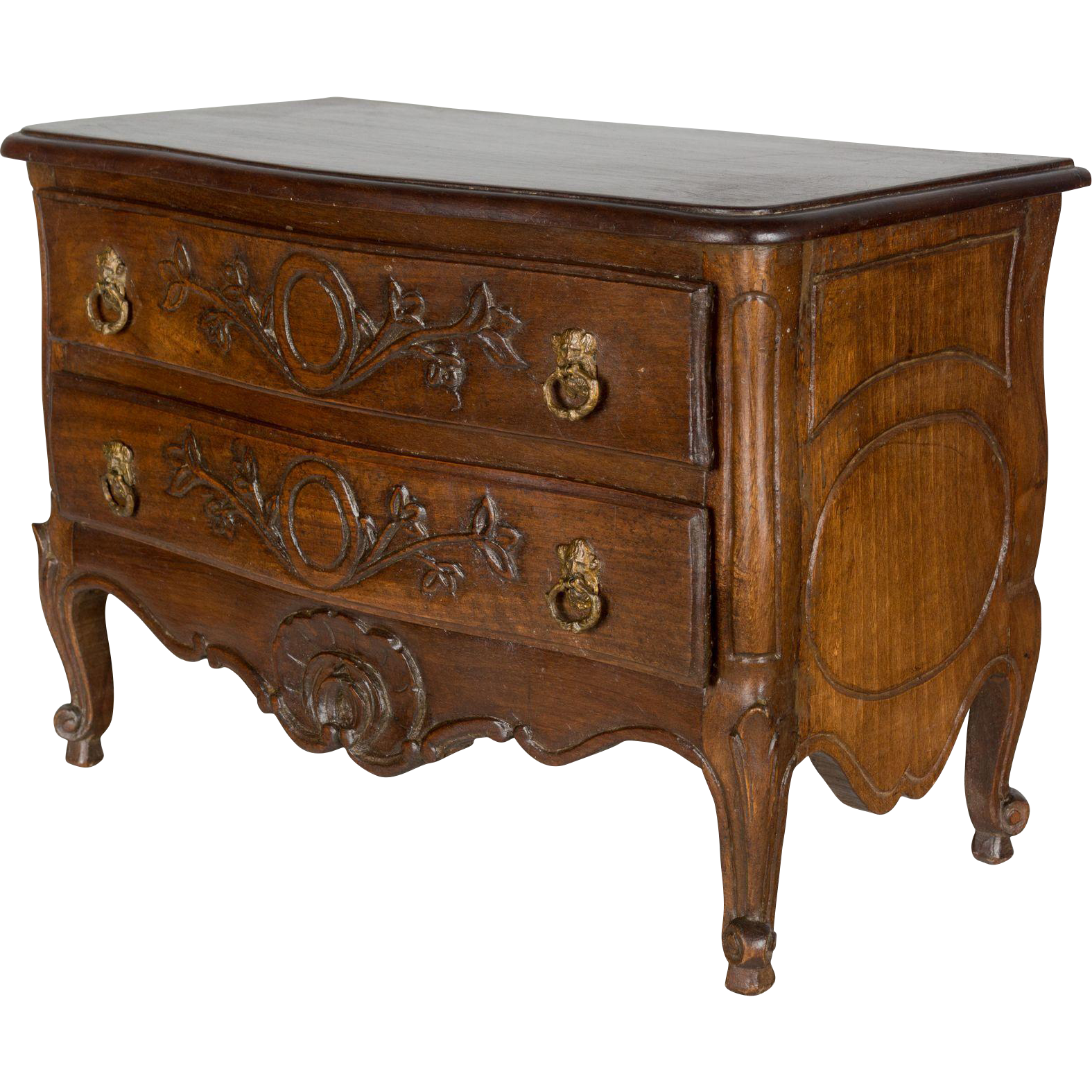 french louis xv style miniature commode from ofleury on ruby lane. Black Bedroom Furniture Sets. Home Design Ideas