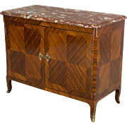 19th c. Louis XV Style Parisian Marquetry Buffet