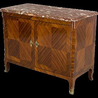19th c. Louis XV Style Parisian Marquetry Buffet