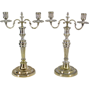 Pair of 18th c. Louis XV Candelabras
