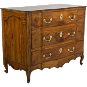 18th c. Louis XV Olive Wood Commode