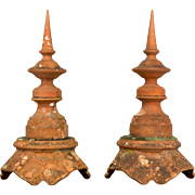 Pair of French Terracotta Roof Spires