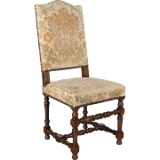 Set of 10 French Louis XIII Style Dining Chairs