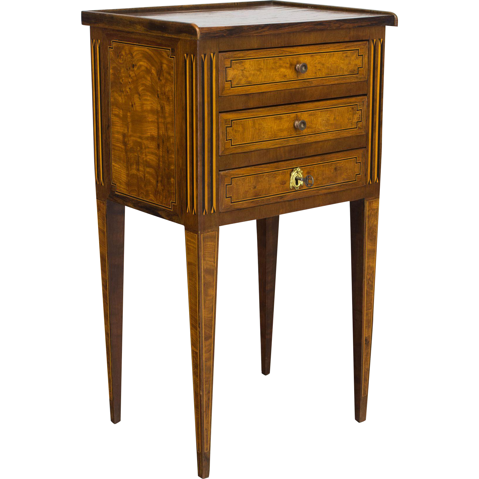 Louis XVI Style Marquetry Side Table