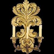 Italian Gilded Sconce