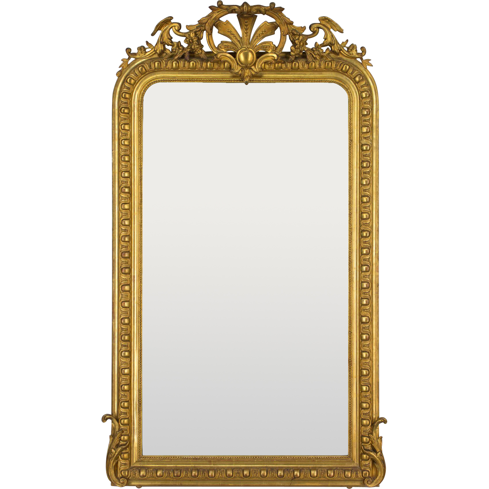 19th c. Louis-Philippe Gilded Mirror