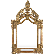 18th c. French Regence Gilt Mirror