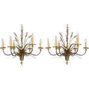 Pair of Maison Bagues Chandeliers