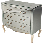 French Mid-Century Mirrored Commode